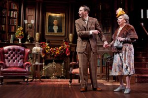 "Jim Parsons and Angela Paton in ""Harvey"", NYT"