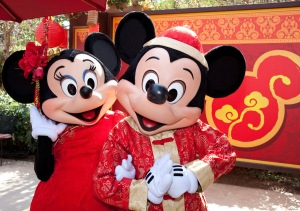 Minnie and Mickey celebrate the Lunar New Year