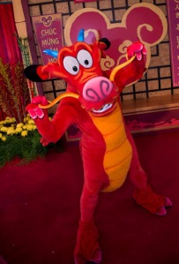 Mushu at Disneyland California