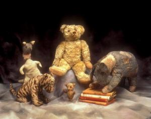 Original Winnie the Pooh toys at New York Public Library Children Centre