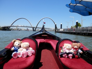 Leaving Elizabeth Quay for the river cruise
