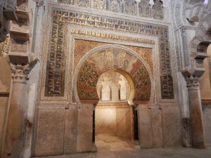 Mihrab, framed by the horseshoe arch