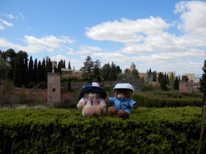 Look at us! We;'re in Granada, visiting Generalife