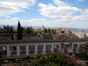 View over Patio  de la Acequia, Generalife, Granada