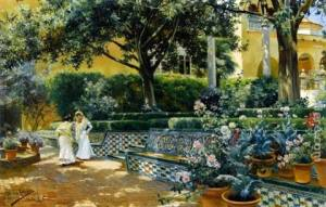 Gardens of the Alcázar of Seville, Manuel Garcia y Rodriguez (1906)