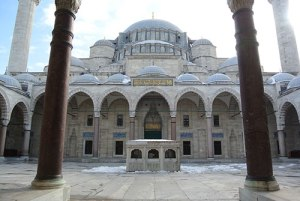 Süleymaniye Mosque - View from courtyard (P. Blessing)