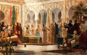 Abd al-Rahman III and his court in Madinat al-Zahra, by Dionisio Baixeras Verdaguer