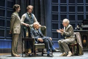 Damien Molony (as Foster), Owen Teale (as Briggs), Patrick Stewart (as Hirst) and Ian McKellan (as Spooner)