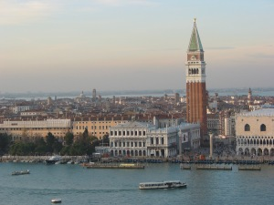 View of Piazza San Marco and Campanile from