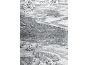 "Neptune rides a sea monster in a detail from Jacopo de'Barbari's ""Grande Pianta Prospettica,"" a circa 1500 map of Venice unusual for its bird's-eye vantage."