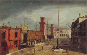 Canaletto's talented student Michele Marieschi painted the arsenal, Venice's 60-acre armory and site of most Venetian merchant shipbuilding.
